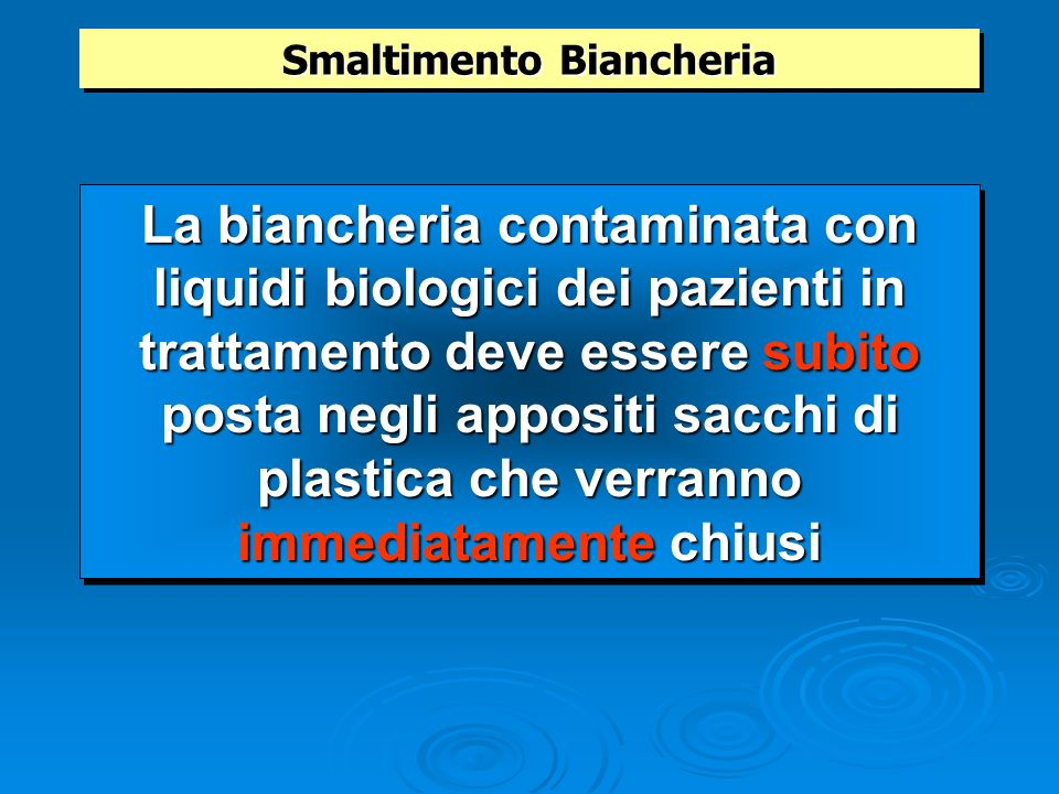 Smaltimento Biancheria