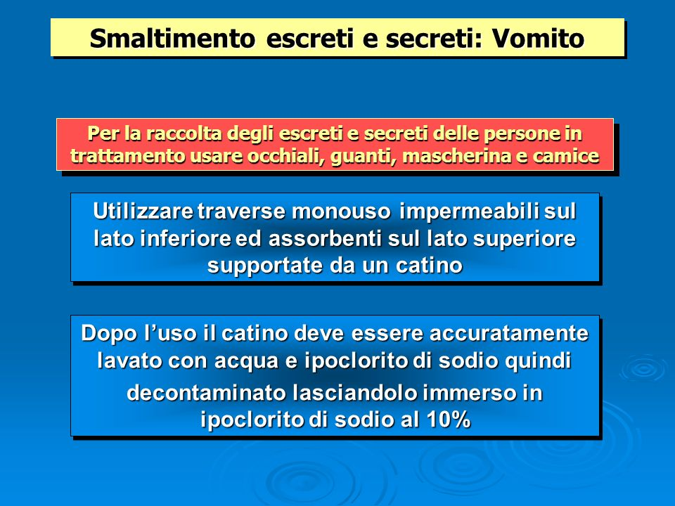 Smaltimento escreti e secreti: Vomito