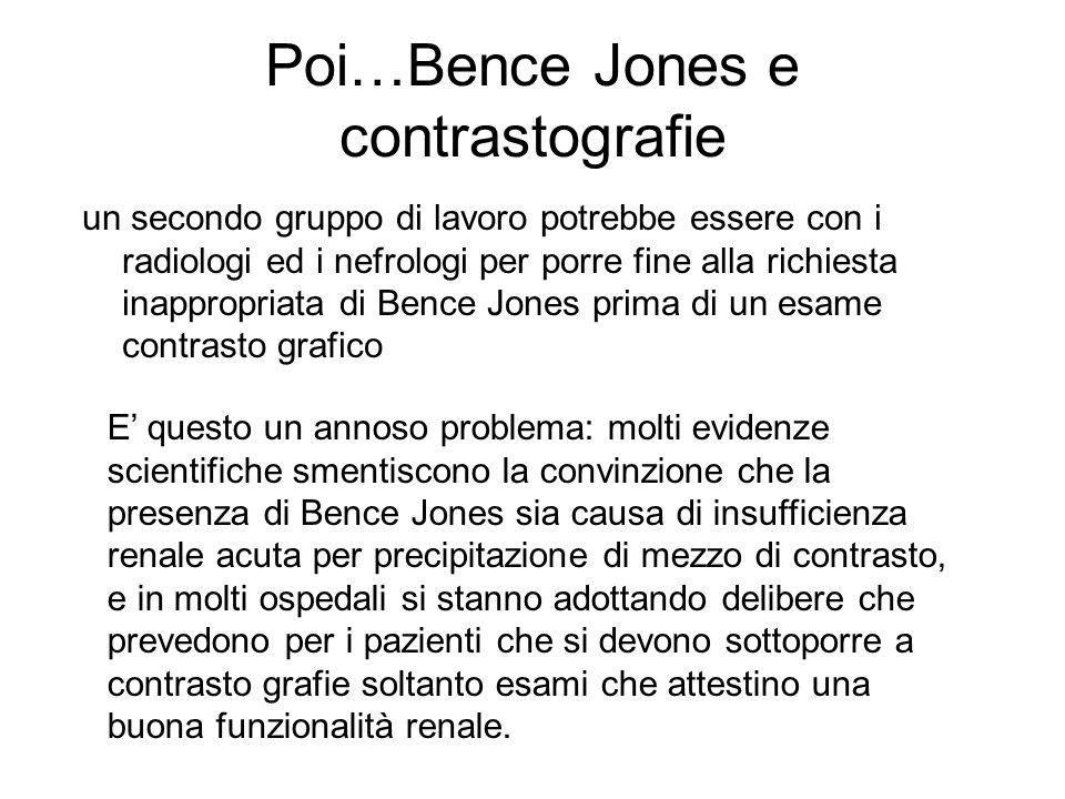 Poi…Bence Jones e contrastografie