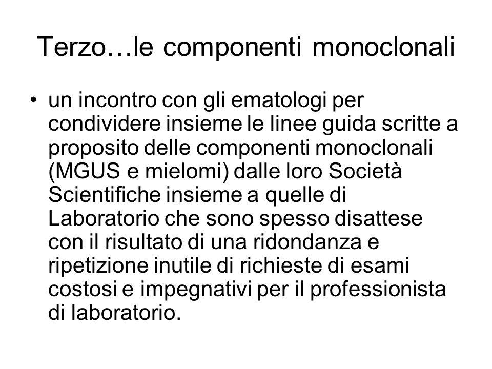 Terzo…le componenti monoclonali