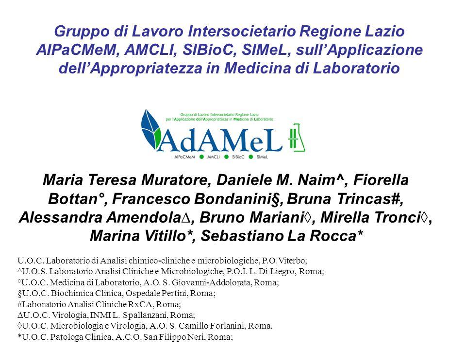 Gruppo di Lavoro Intersocietario Regione Lazio