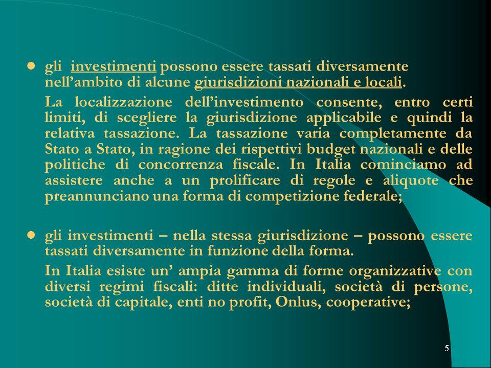 gli investimenti possono essere tassati diversamente nell'ambito di alcune giurisdizioni nazionali e locali.