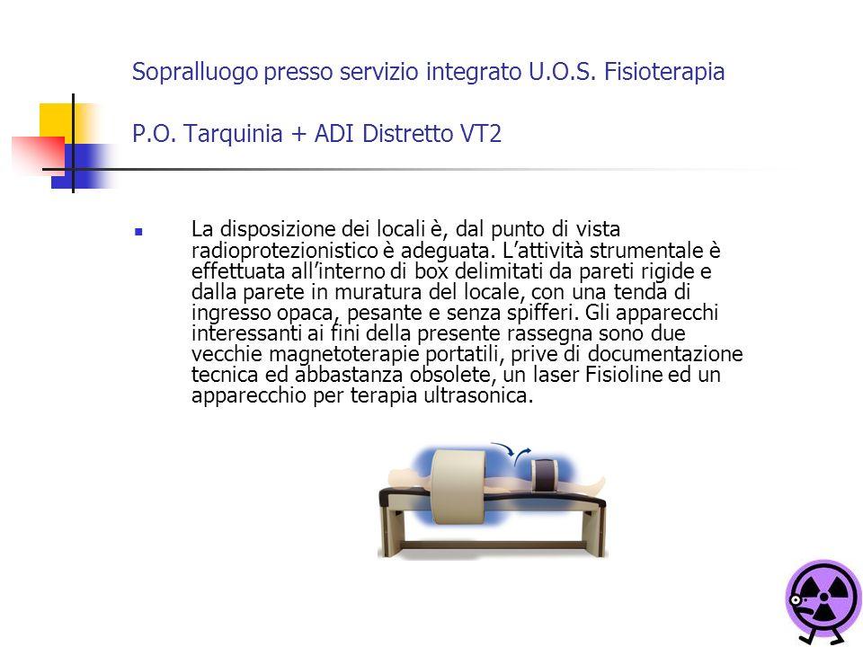 Sopralluogo presso servizio integrato U. O. S. Fisioterapia P. O