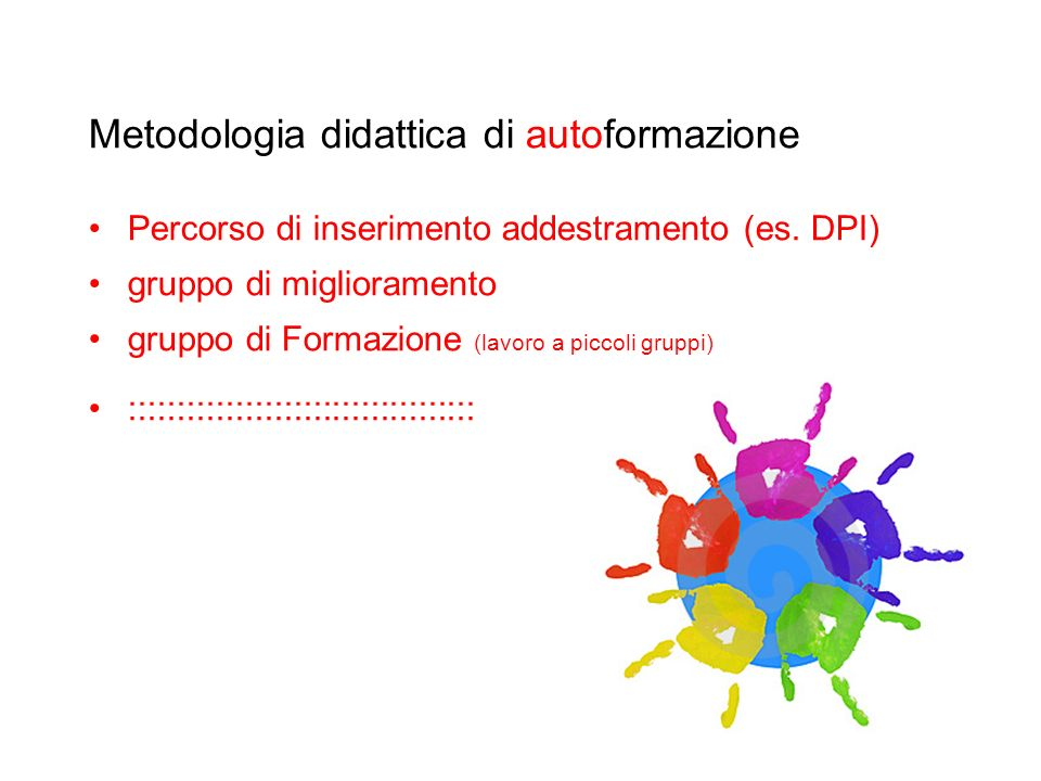 Metodologia didattica di autoformazione