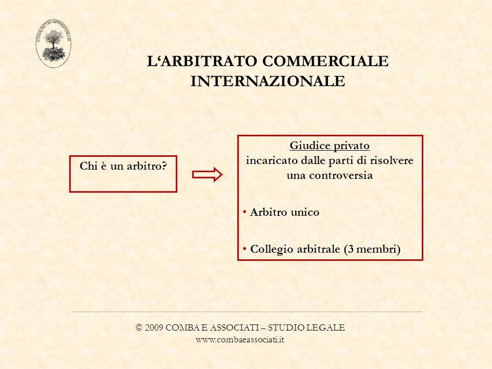 L'ARBITRATO COMMERCIALE INTERNAZIONALE