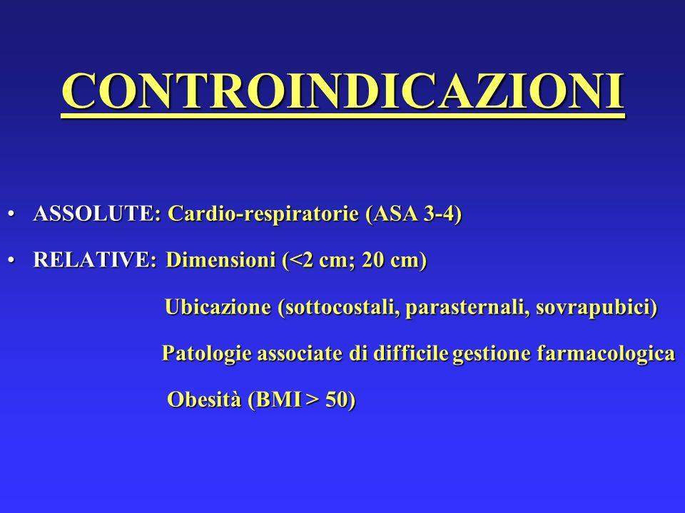 Ubicazione (sottocostali, parasternali, sovrapubici)