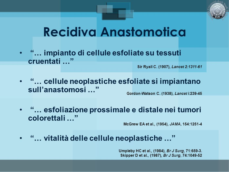 Recidiva Anastomotica