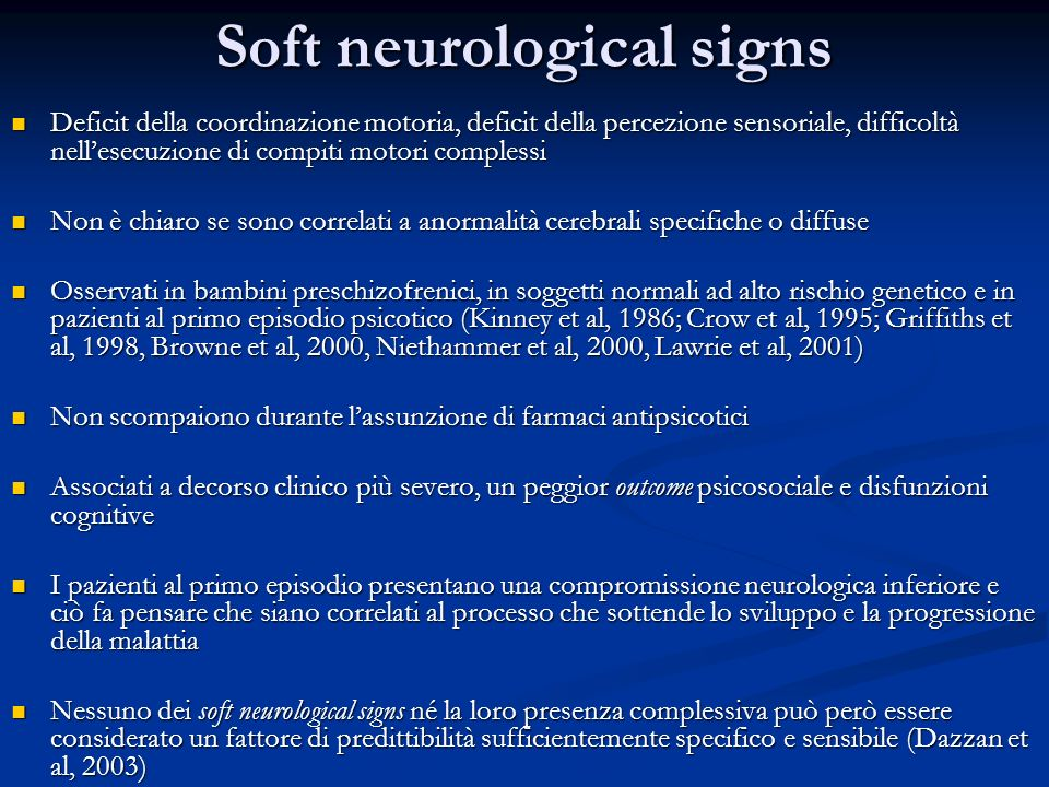 Soft neurological signs