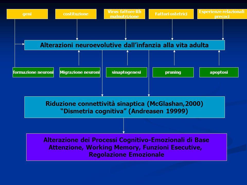 Alterazioni neuroevolutive dall'infanzia alla vita adulta