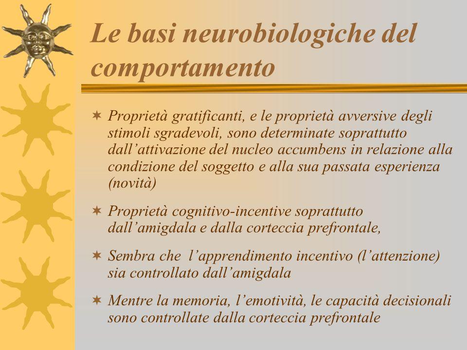 Le basi neurobiologiche del comportamento