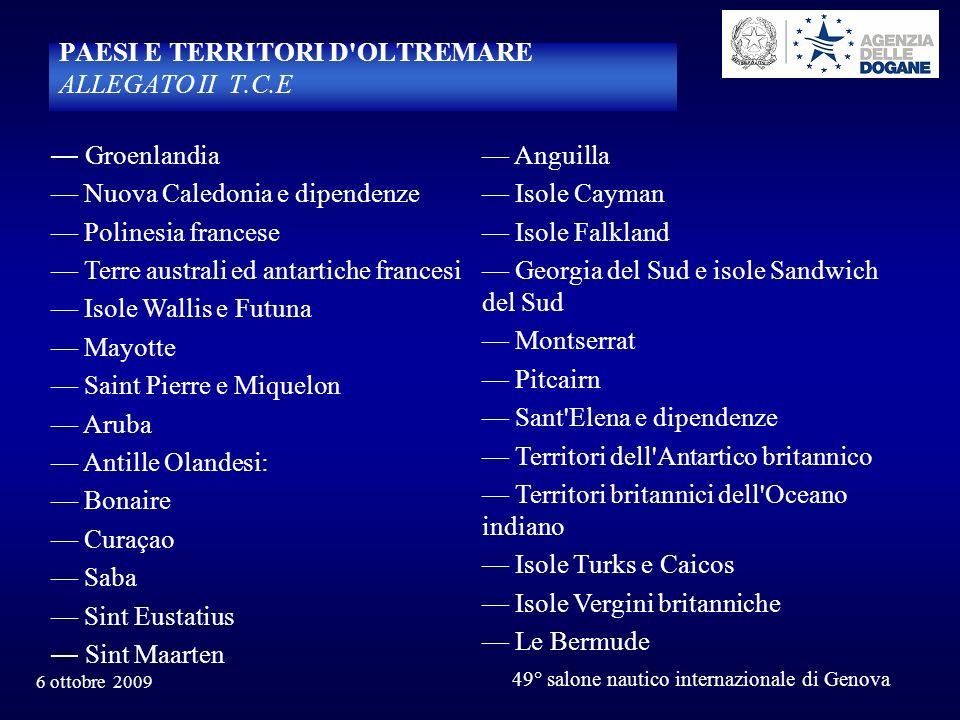PAESI E TERRITORI D OLTREMARE ALLEGATO II T.C.E