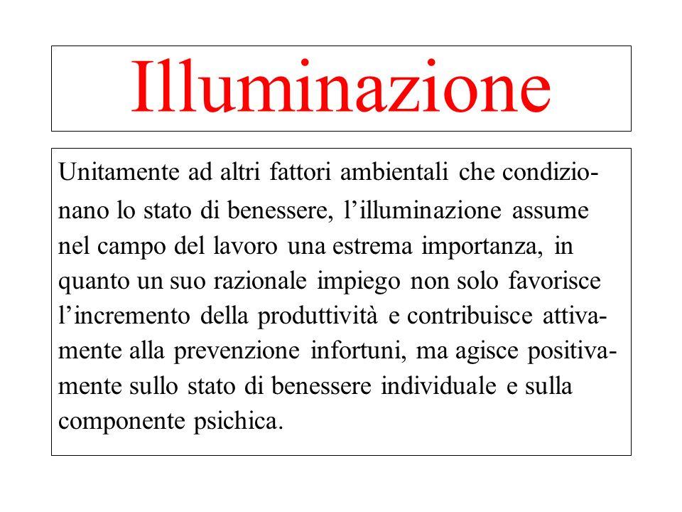 Illuminazione Unitamente ad altri fattori ambientali che condizio-