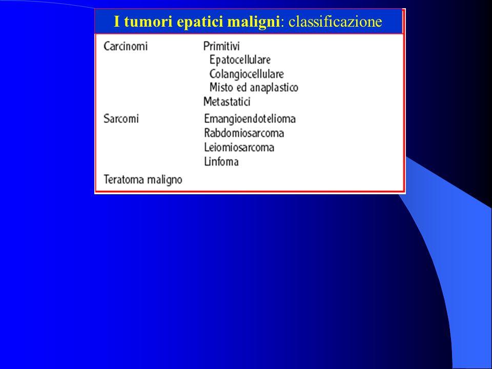 I tumori epatici maligni: classificazione