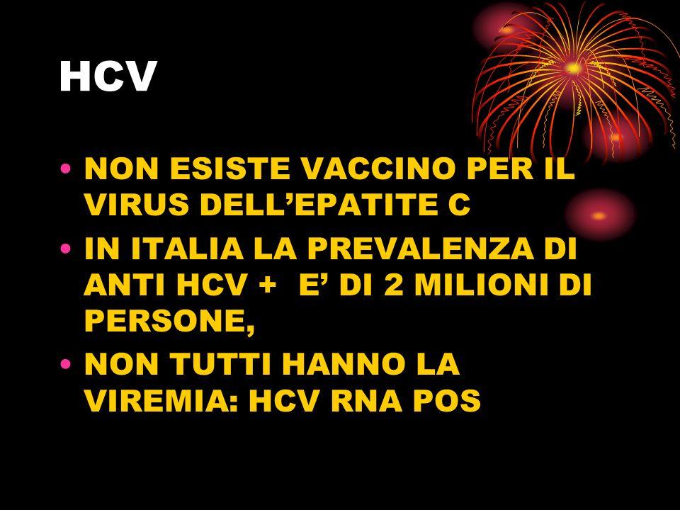 HCV NON ESISTE VACCINO PER IL VIRUS DELL'EPATITE C