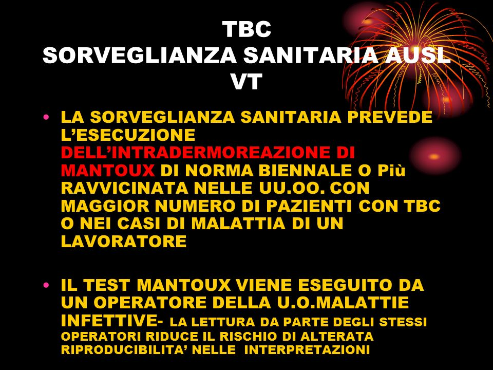 TBC SORVEGLIANZA SANITARIA AUSL VT