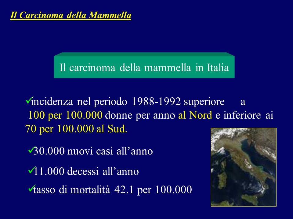 Il carcinoma della mammella in Italia