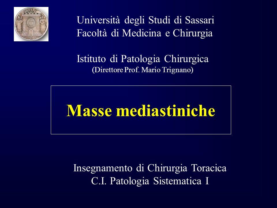 Masse mediastiniche Università degli Studi di Sassari