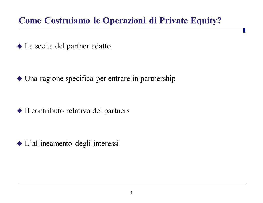 Come Costruiamo le Operazioni di Private Equity