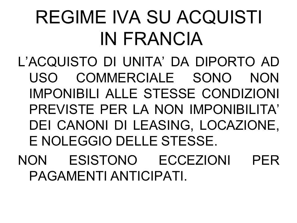 REGIME IVA SU ACQUISTI IN FRANCIA