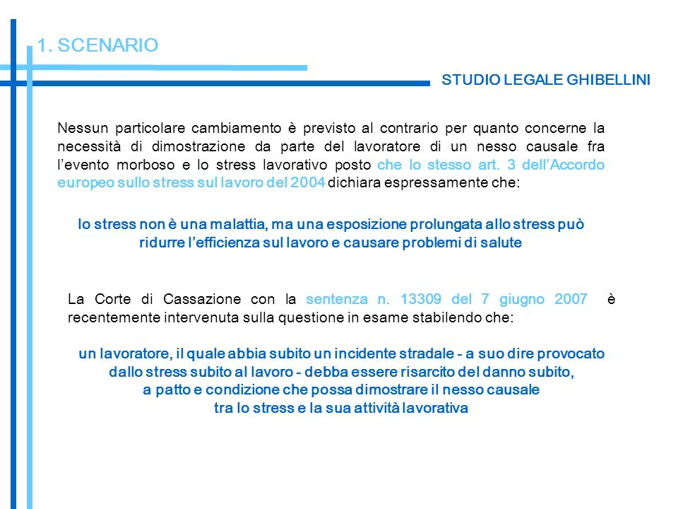 1. SCENARIO STUDIO LEGALE GHIBELLINI