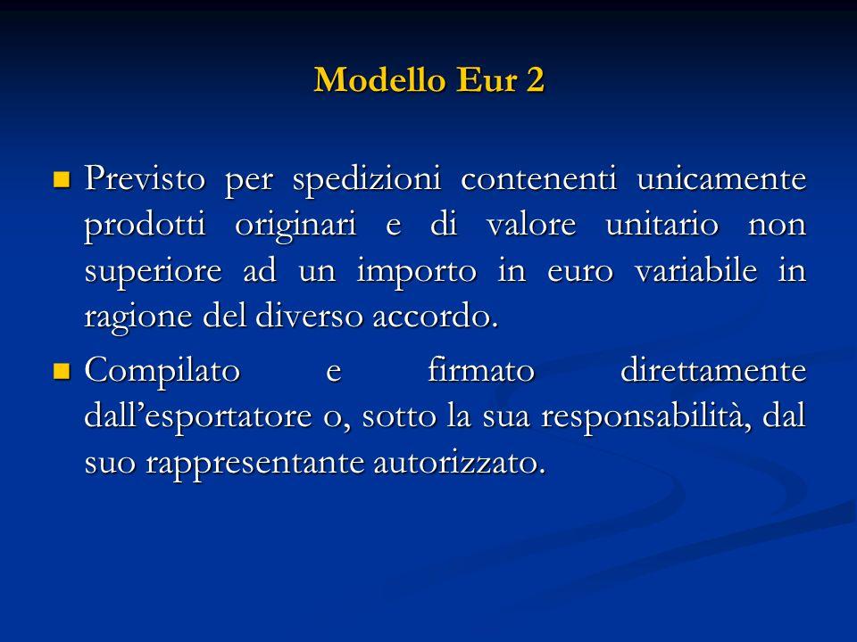 Modello Eur 2