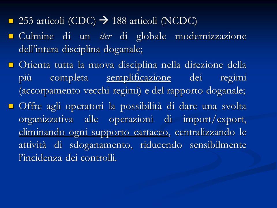 253 articoli (CDC)  188 articoli (NCDC)