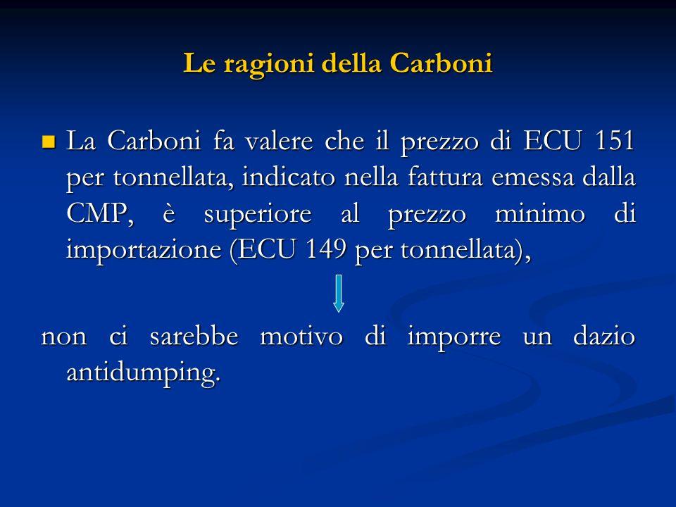 Le ragioni della Carboni