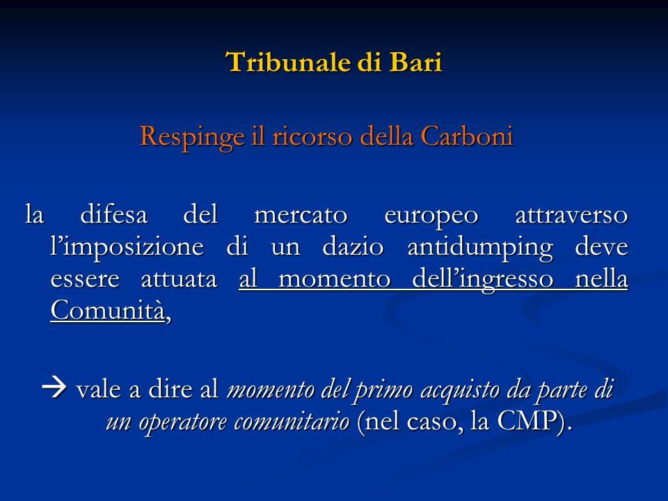 Respinge il ricorso della Carboni