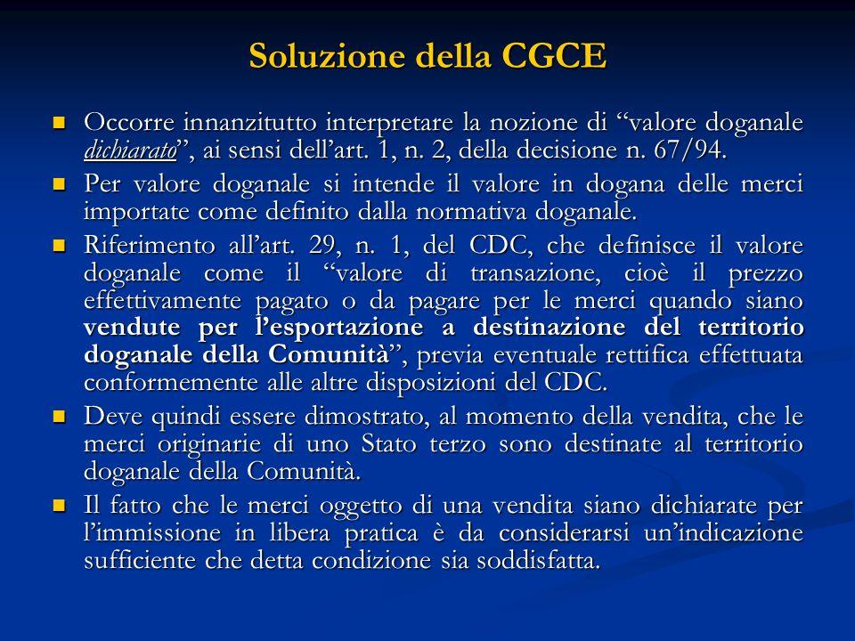 Soluzione della CGCE