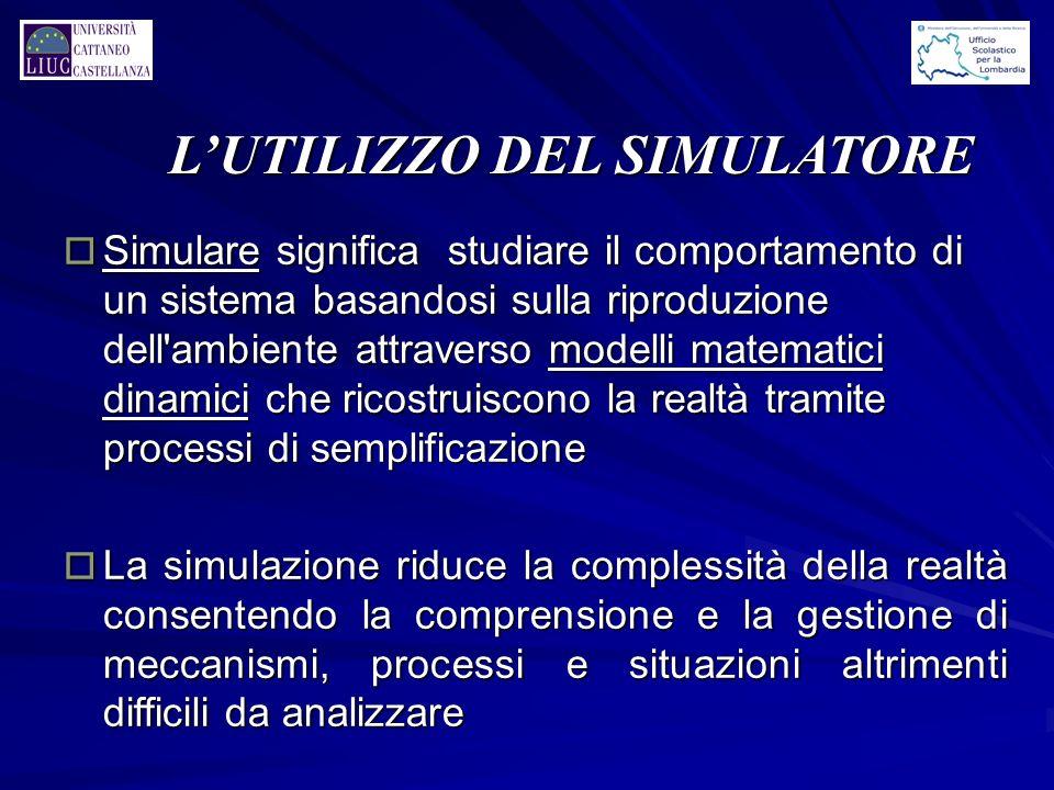 L'UTILIZZO DEL SIMULATORE