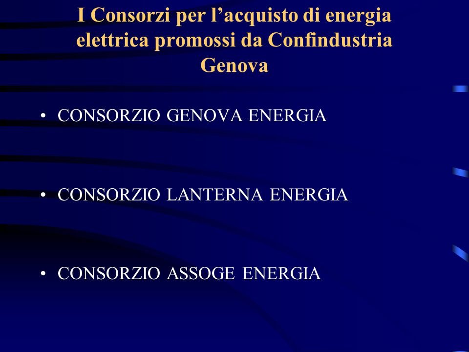 I Consorzi per l'acquisto di energia elettrica promossi da Confindustria Genova