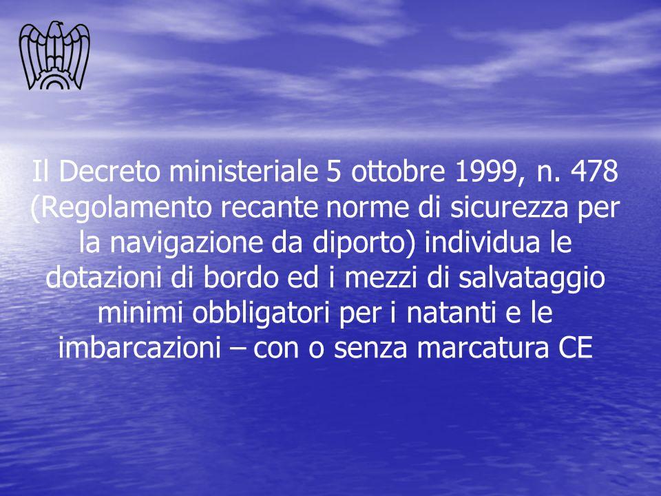 Il Decreto ministeriale 5 ottobre 1999, n