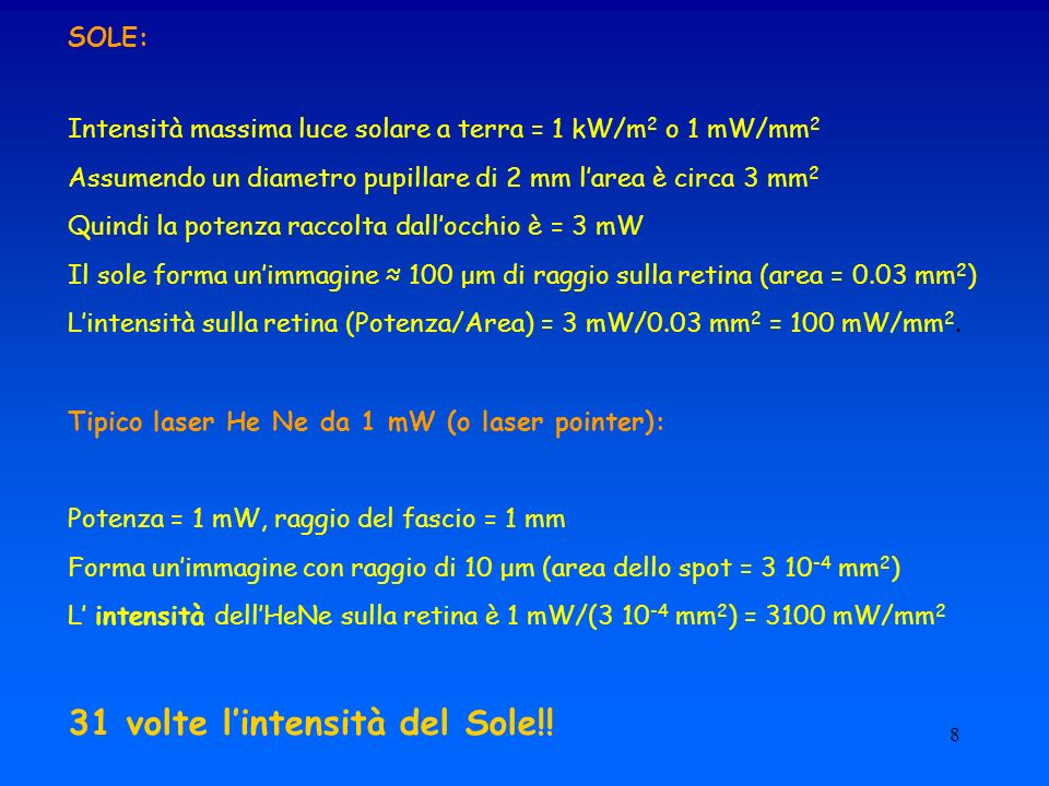 31 volte l'intensità del Sole!!