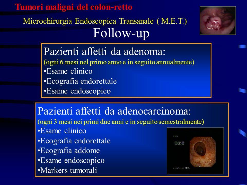Follow-up Pazienti affetti da adenoma: