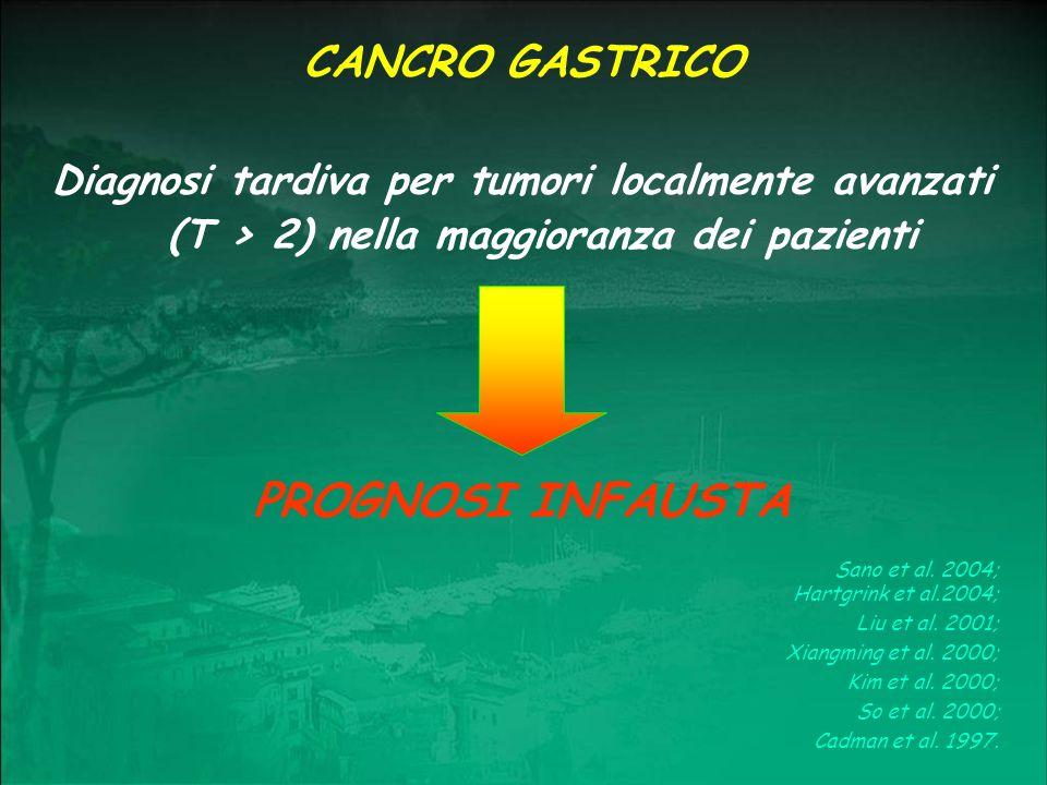 PROGNOSI INFAUSTA CANCRO GASTRICO