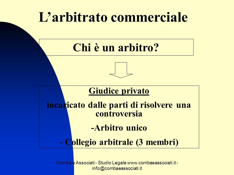 L'arbitrato commerciale