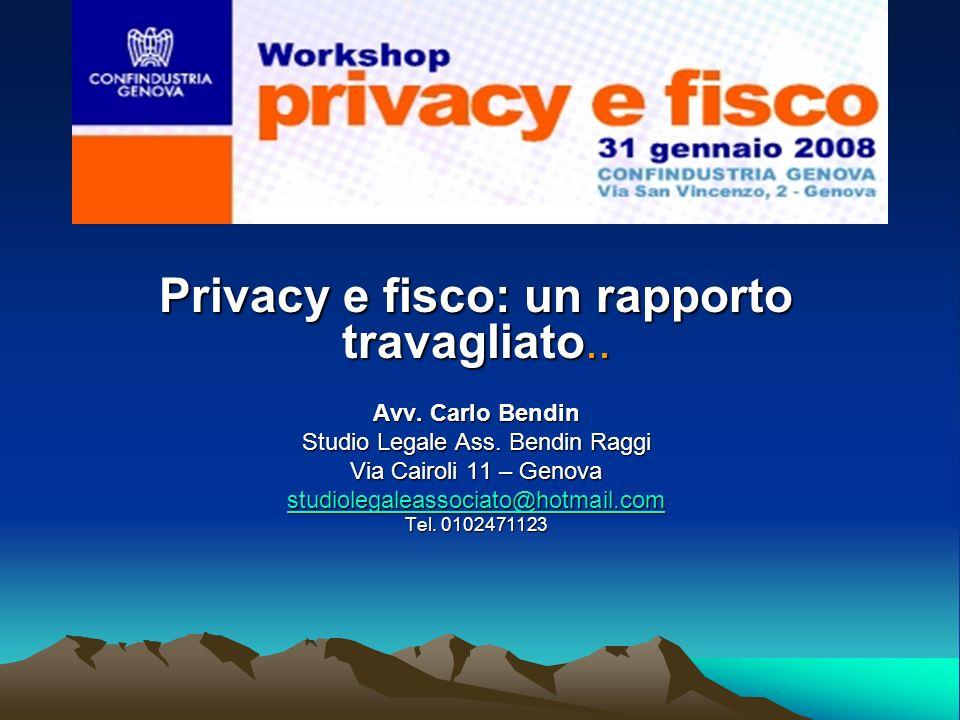 Privacy e fisco: un rapporto travagliato..