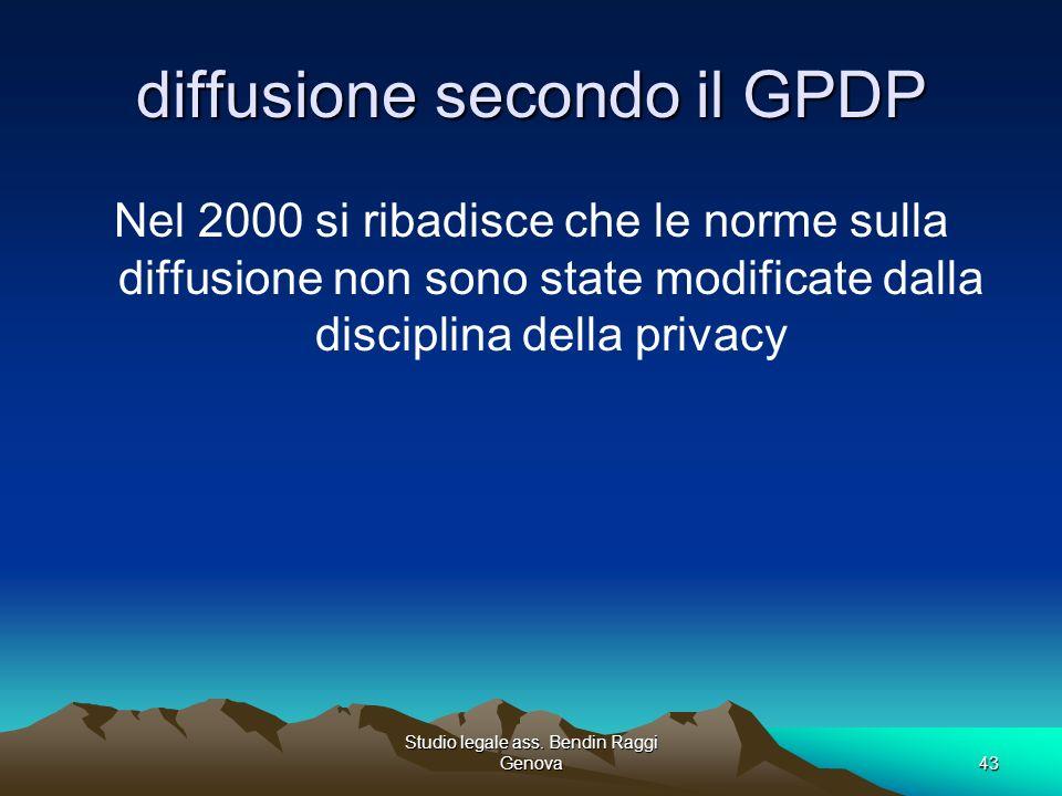 diffusione secondo il GPDP
