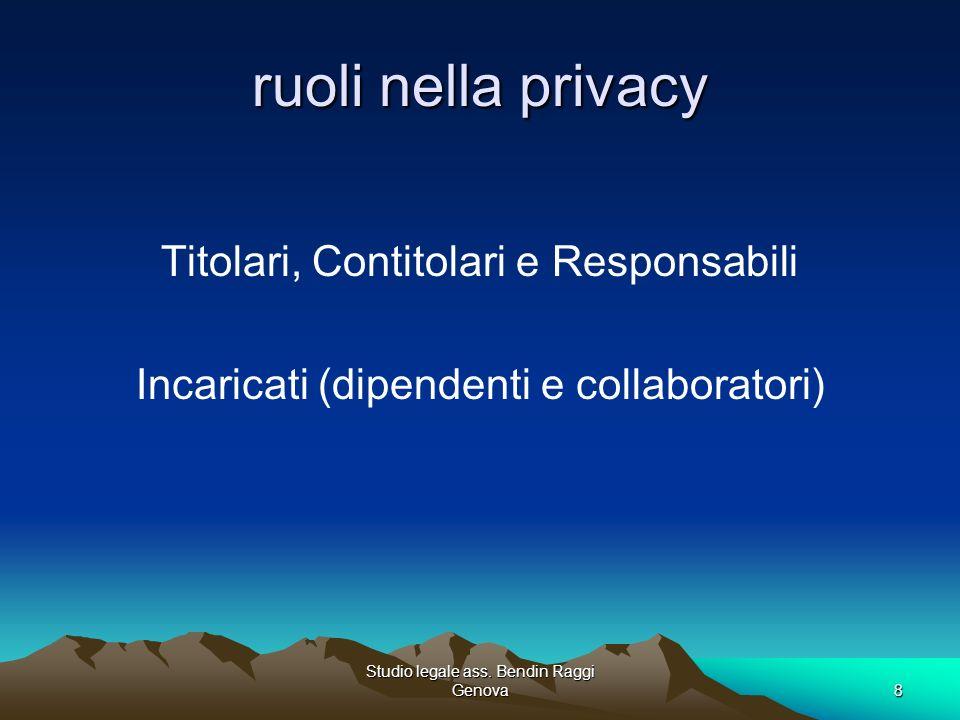 ruoli nella privacy Titolari, Contitolari e Responsabili