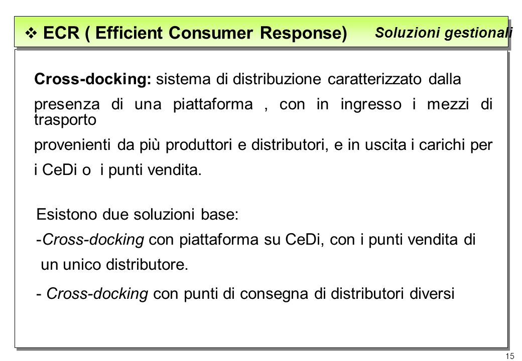 ECR ( Efficient Consumer Response)