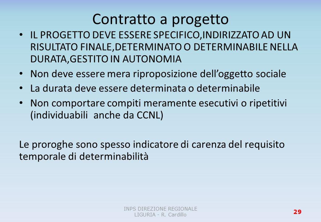 INPS DIREZIONE REGIONALE LIGURIA - R. Cardillo