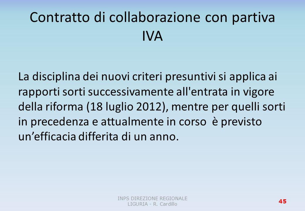 Contratto di collaborazione con partiva IVA