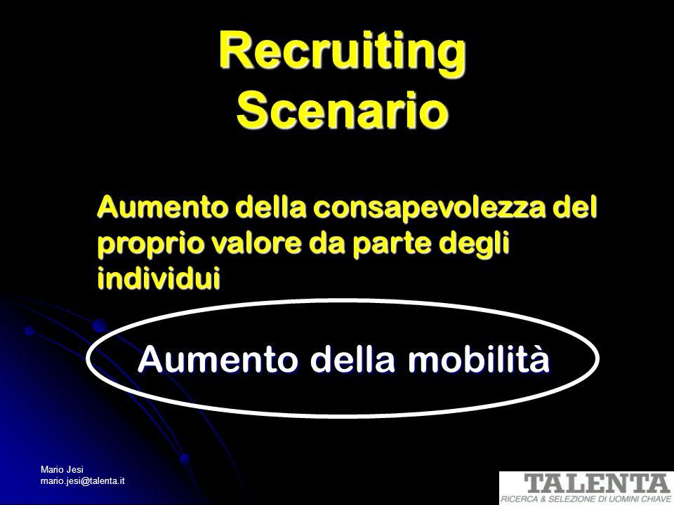 Recruiting Scenario Aumento della mobilità