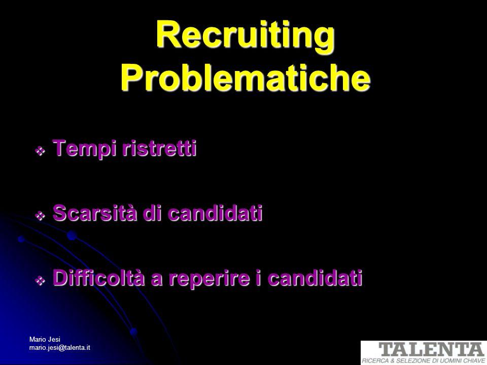 Recruiting Problematiche