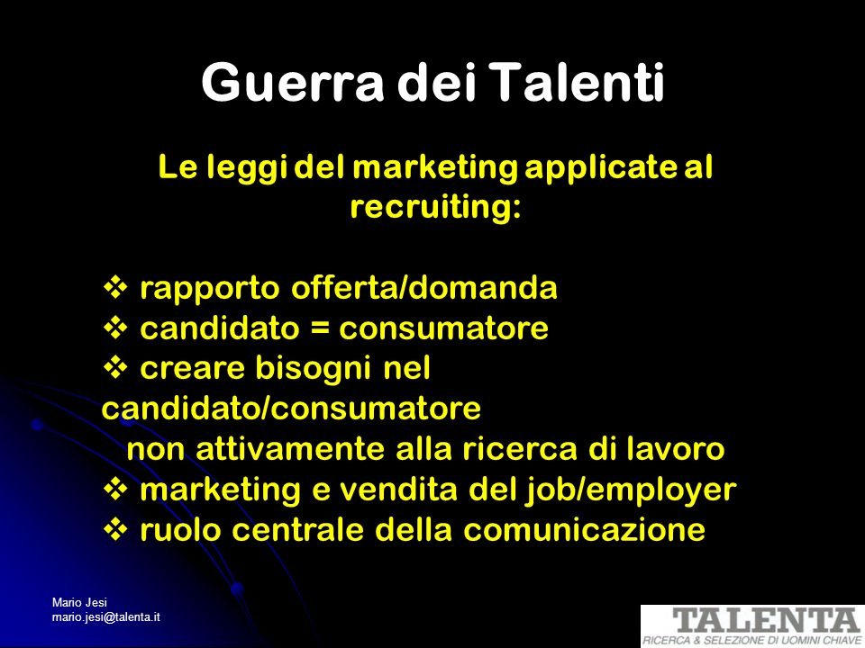 Le leggi del marketing applicate al recruiting: