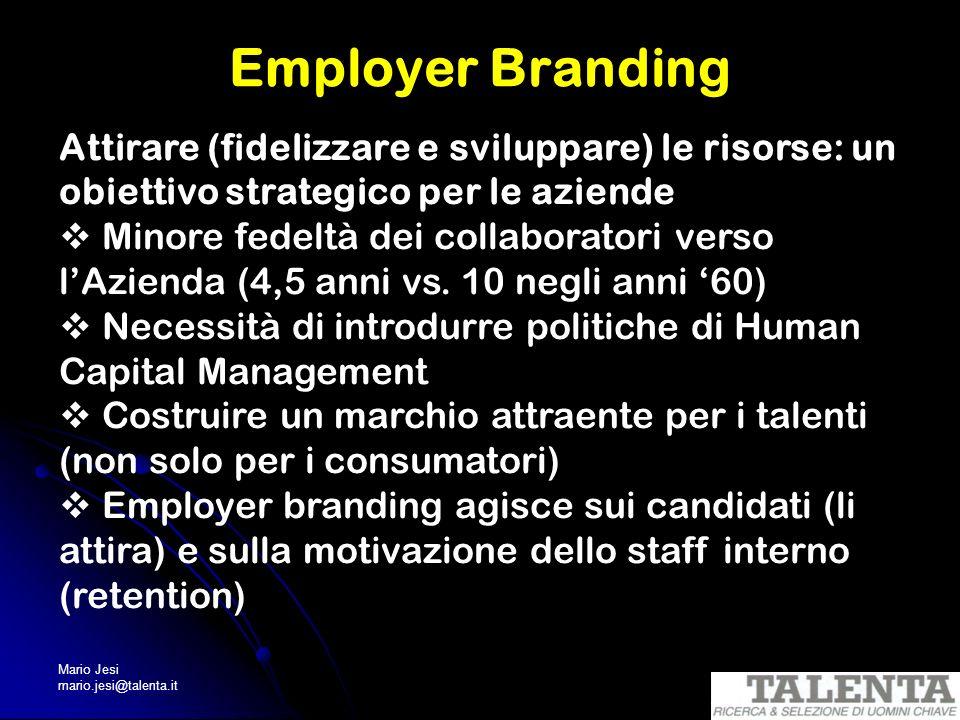 Employer Branding Attirare (fidelizzare e sviluppare) le risorse: un obiettivo strategico per le aziende.