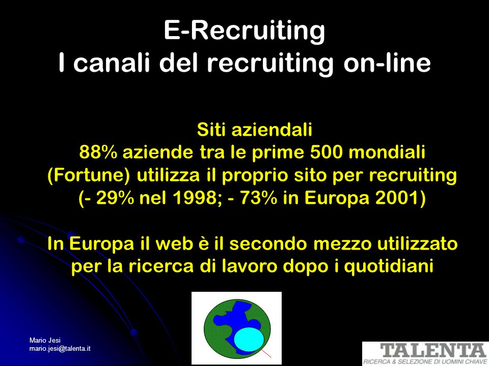 E-Recruiting I canali del recruiting on-line