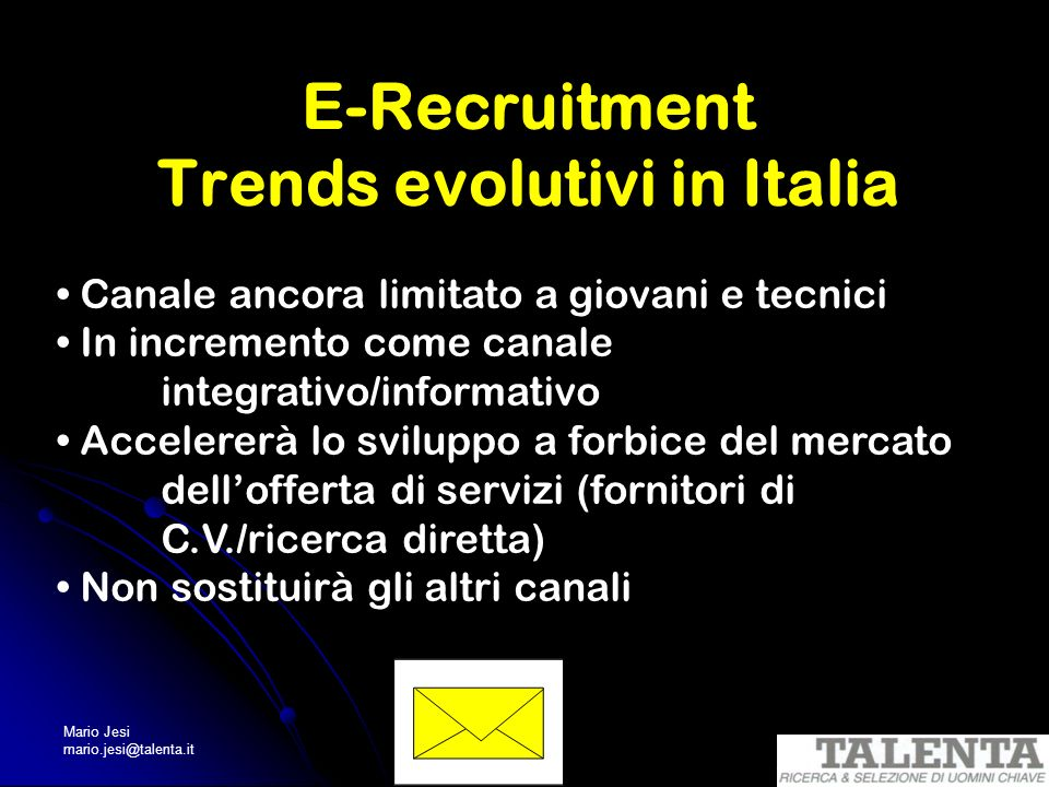 E-Recruitment Trends evolutivi in Italia