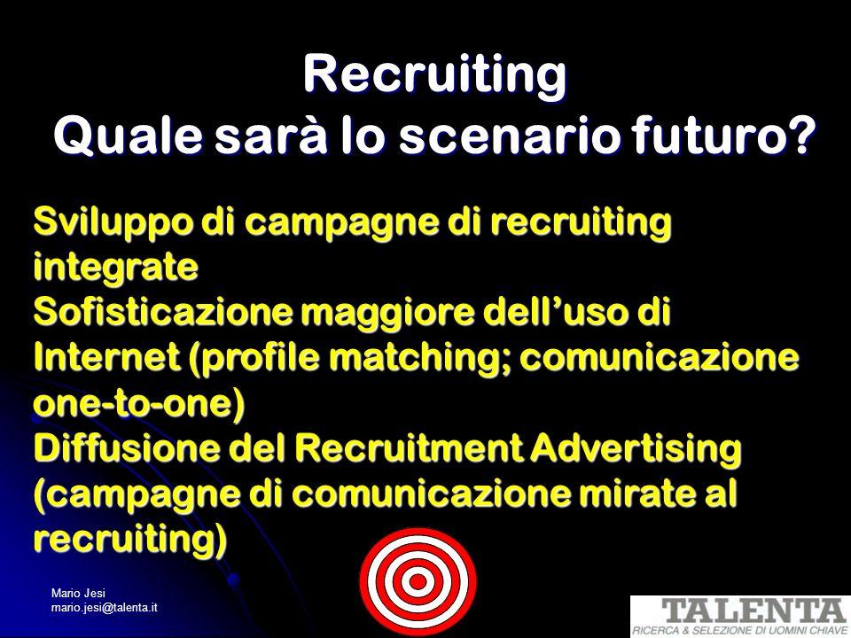 Recruiting Quale sarà lo scenario futuro