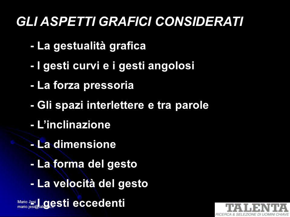 GLI ASPETTI GRAFICI CONSIDERATI - La gestualità grafica